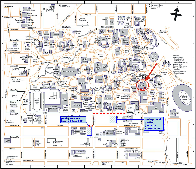 uc berkeley campus map: